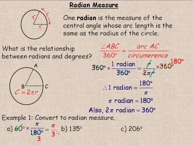 Doin Circlework – Radian Measure Worksheet