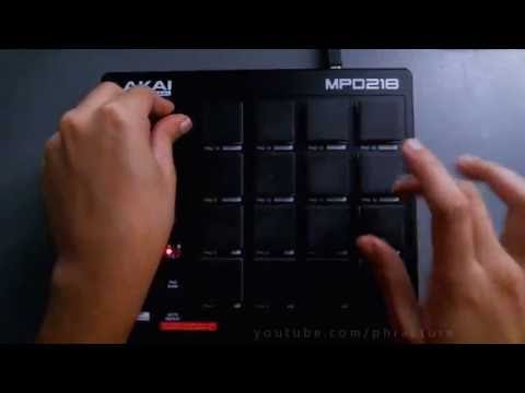 Akai MPD218 Session 2 - Live Chill Hip Hop