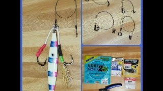 How to tie wire leader to your vertical jig