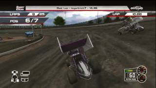 World of Outlaws Sprint Cars (Xbox 360) Full Online Race - Eldora