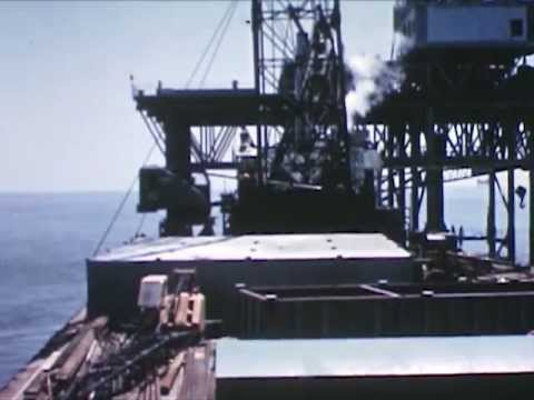 Gulf of Mexico Drilling Rig - 1955 - CharlieDeanArchives / A