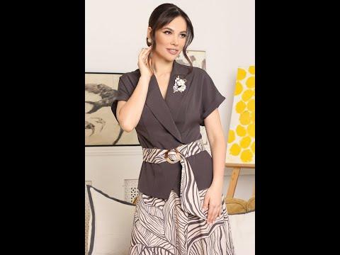 Летний женский костюм Мода-Юрс модель 2641 baklazhan