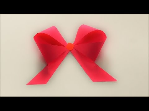 DIY|KIDS CRAFT| EASY STEPS TO MAKE PAPER BOW|IN JUST 2 MINUTES