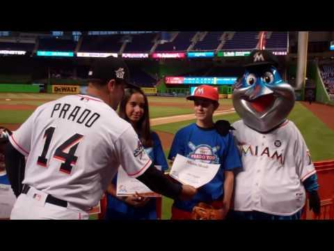 Very Prado You: Martin Prado Awarding Miami Marlins/Miami Herald June Honorees 2017