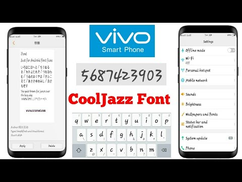 How to apply COOLJAZZ FONTS in VIVO Y53,Y55,Y51,Y21