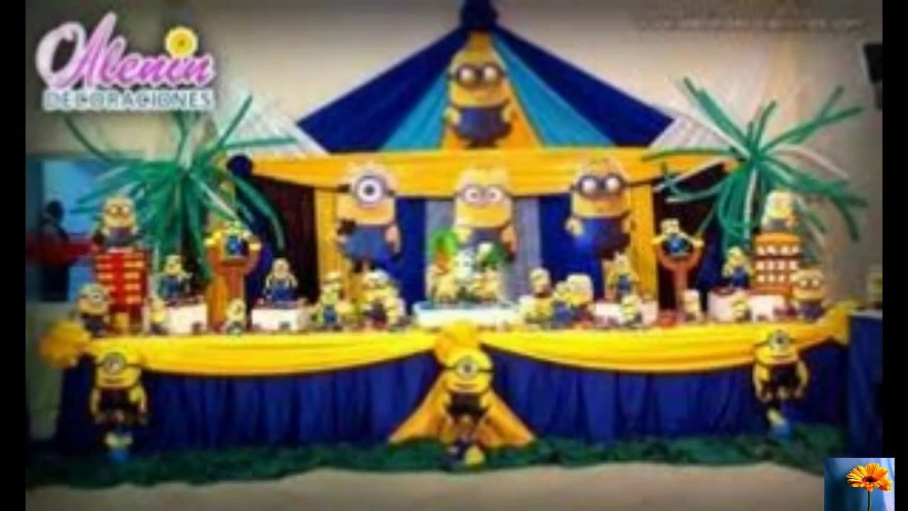 decoracion de fiesta de minions de ideas divertidas y faciles youtube