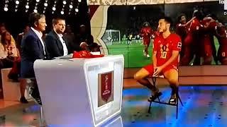 بعد الفوز على البرازيل.. كيف انتقل هازارد لبلجيكا لاجراء مقابلة تلفزيونية وعاد لروسيا في عدة ثوان؟؟.. فيديو