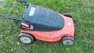 Black And Decker Cmm1200 Battery Powered Electric Lawn Mower Youtube