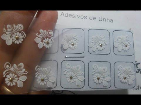 Adesivos de Unha    (Ensinando - Rosinha Branca)