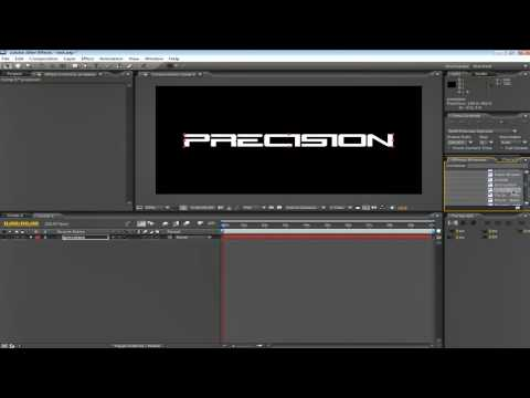 AFTER EFFECTS CS3 BASIC TEXT INTRO TUTORIAL