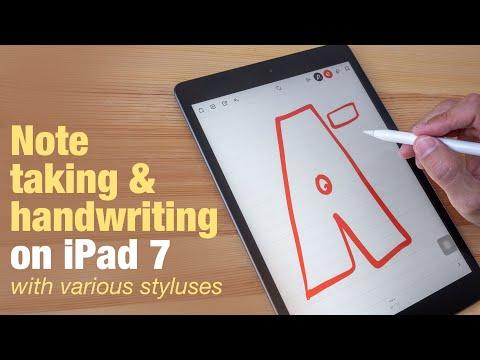 iPad 7 (2019) handwriting & note taking