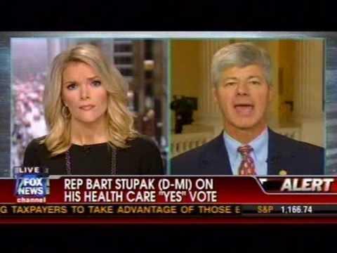 Rep. Bart Stupak Interviewed On Fox News By Megyn Kelly, 3/22/10