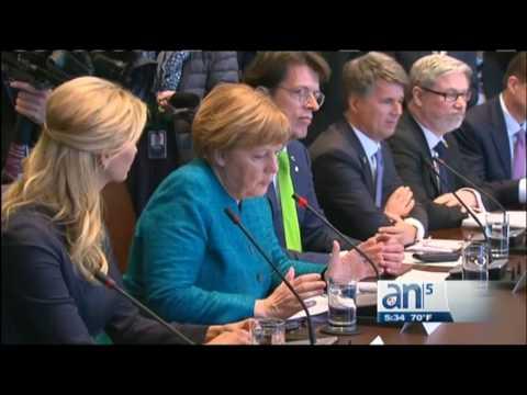 Donald Trump recibió a Merkel en la Casa Blanca
