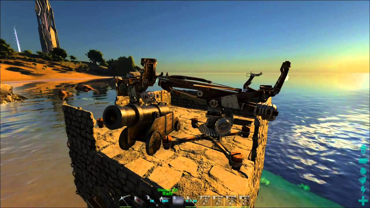 ARK Survival Evolved - Cannon Testing! Useful Raiding Tool ...