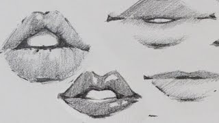 How to Draw Lips - Traditional or Manga