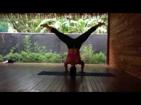 yoga  sirsasana ii tripod headstand into prasarita