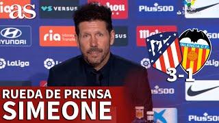 ATLÉTICO DE MADRID 3- VALENCIA 1 | Rueda de prensa de SIMEONE | Diario AS