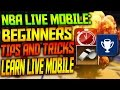 BEGINNERS TIPS AND TRICKS / LEARN LIVE MOBILE - NBA Live Mobile