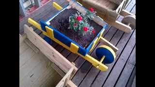 My Rustic Wheelbarrow Flower Planters