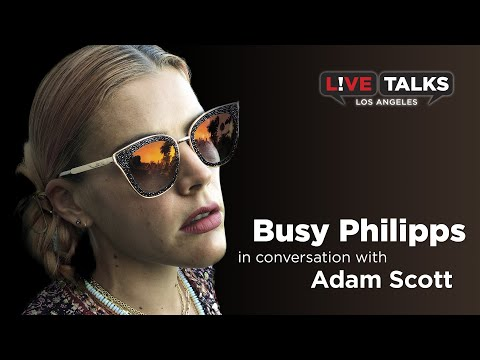 Busy Philipps in conversation with Adam Scott at Live Talks Los Angeles