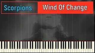 Пианино обучение+клип Scorpions   Wind Of Change by tutorial piano