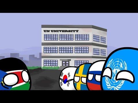 "видео: Countryballs №15 ""UN UNIVERSITY"""