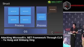 #HITB2018AMS D1T2 -  Attacking Microsoft's .NET Framework Through CLR -  Yu Hong &  Shikang Xing