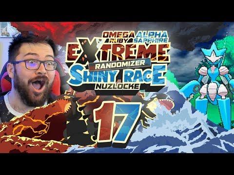 GIMME A SMOOCH! BATTLING IN THE RAIN! Pokemon ORAS Extreme Randomizer Shiny Race Nuzlocke Ep 17