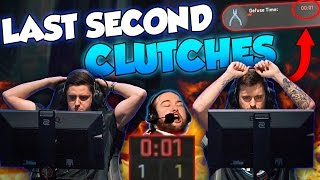 CS:GO - CRAZIEST LAST SECOND CLUTCHES OF ALL TIME! ft. kennyS, tarik, flusha & More!