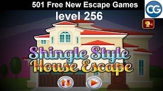 [Walkthrough] 501 Free New Escape Games level 256 - Shingle style house escape - Complete Game