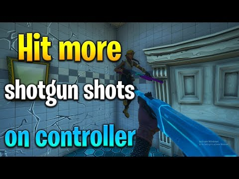 How to AIM BETTER WITH SHOTGUNS in Fortnite! Fortnite controller tips! Fortnite shotgun tips!