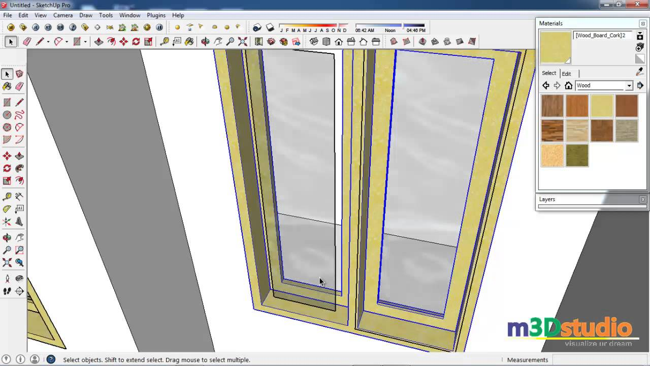 #3 Sketchup Tutorial - adding doors and windows in sketchup model  sc 1 st  YouTube & 3 Sketchup Tutorial - adding doors and windows in sketchup model ...