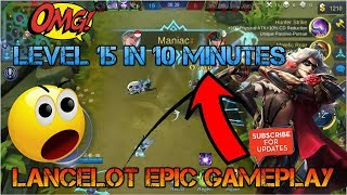 Fast Farming |  LEVEL 15 IN 10 MINS | Mobile legends | LANCELOT GAMEPLAY | Gaming WitH RoY |
