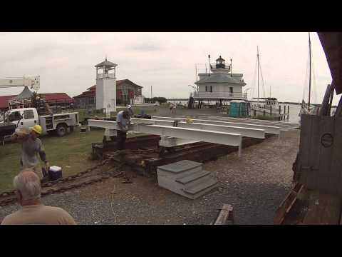 Time-Lapse of Traditional Marine Railway Restoration Project, Chesapeake Bay Maritime Museum