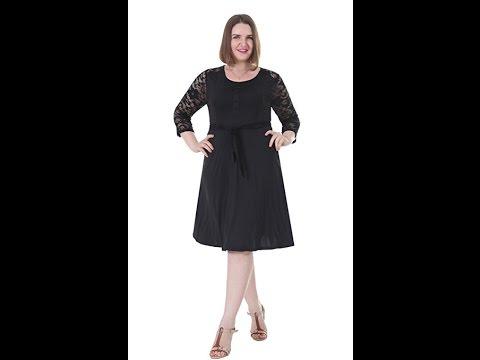 Sapphyra Womens Plus Size Floral Lace Empire Waist Dress 1x 5x