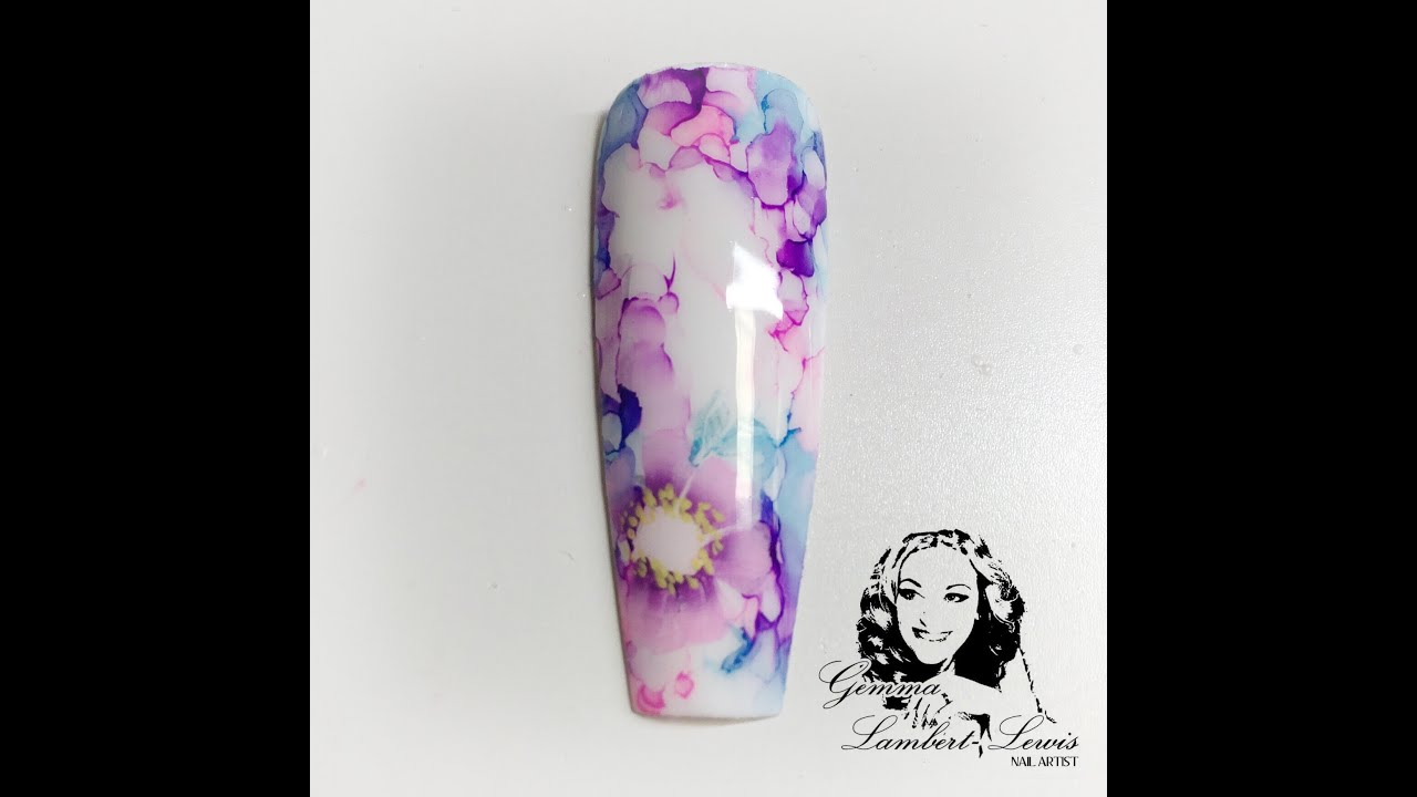 Floral Sharpie Nail Youtube