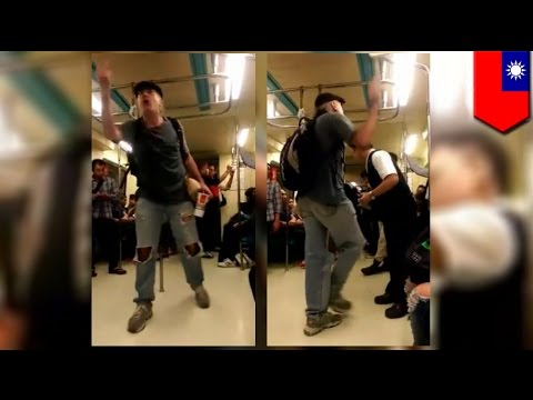 Crazy American rants on Taipei metro train, tells Taiwanese: 'you're all pieces of sh*t!'