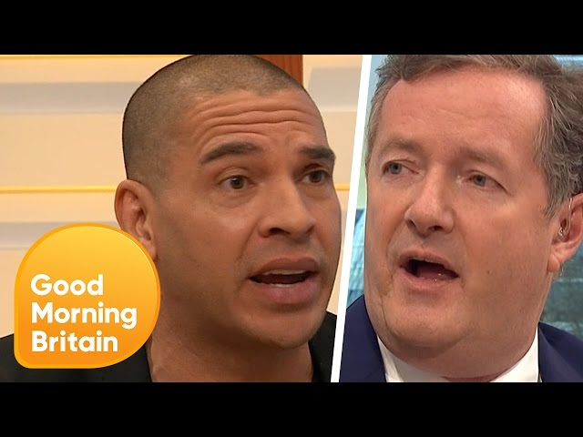 Stan Collymore Confronts Piers Morgan Over Controversial Man Up Comments   Good Morning Britain