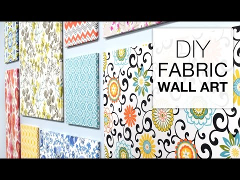 How to Make Fabric Wall Art Easy DIY Tutorial YouTube