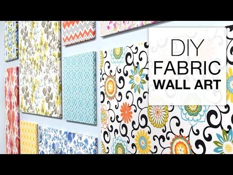 how to make fabric wall art easy diy tutorial youtube