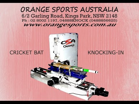 Machine Cricket bat Knocking (knocking-in) by Orange Sports