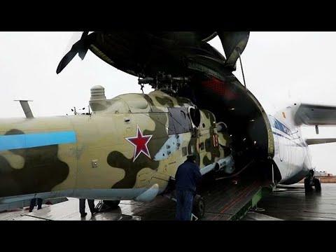 Миротворцы в Карабахе: вертолеты Ми-24 и Ми-8 сопроводили колонны российских военных