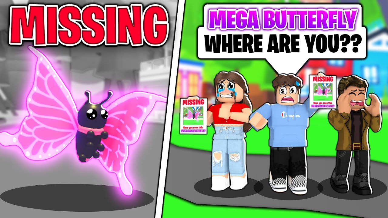 Our *MEGA NEON* BUTTERFLY Went MISSING... We Had To SAVE HIM! (Roblox Adopt Me)