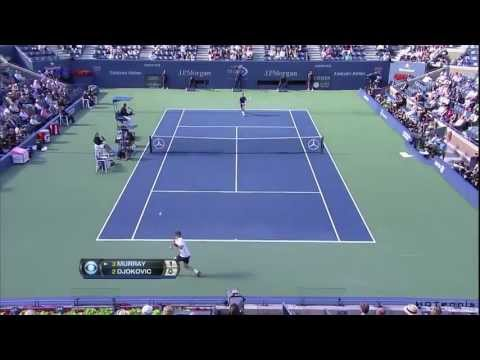 US Open 2012 Final Djokovic vs. Murray HD Best Points from Djokovic // Part 1