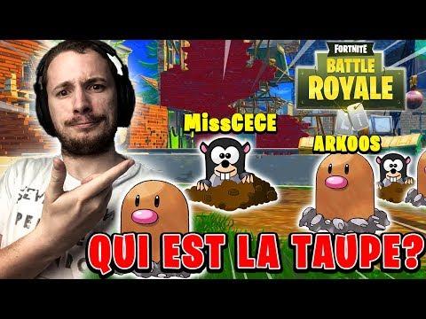 QUI EST LA TAUPE ? SUR FORTNITE BATTLE ROYALE !!! streaming vf