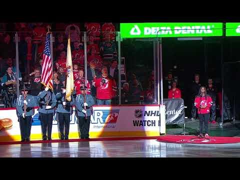 15,000 Devils fans turn backup singers after national anthem mishap