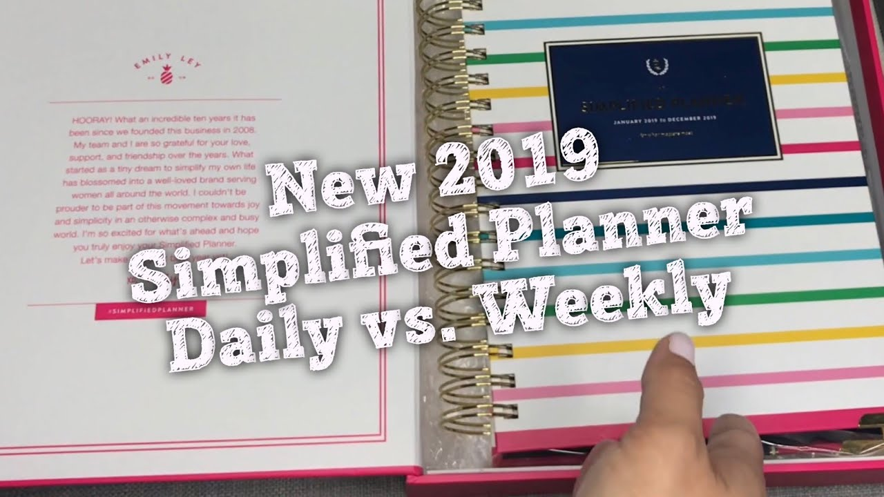 graphic regarding Simplified Planner Emily Ley identify Fresh new 2019 Simplified Planner By way of Emily Ley Everyday vs. Weekly