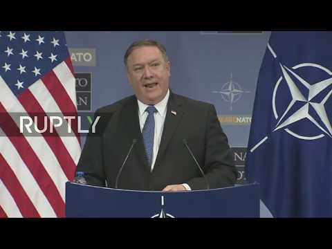 Live: Pompeo holds press conference following Foreign Ministers' NATO summit