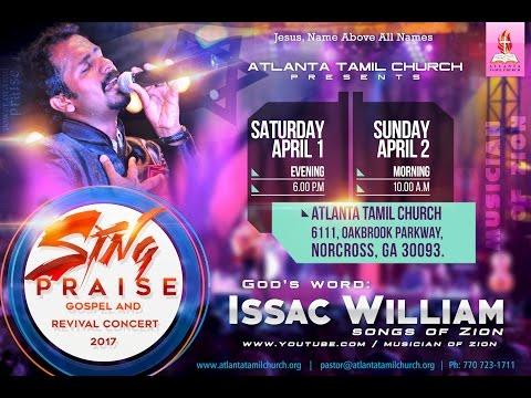04.02.2017 Atlanta Tamil Church Holy Communion Service - Bro. Issac William