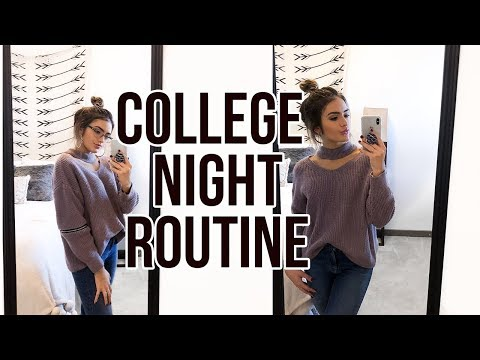 REAL COLLEGE NIGHT ROUTINE 2017 | Natalie Barbu